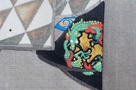 dragon motif kimono