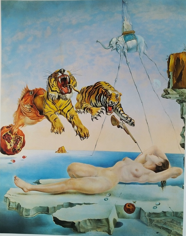 Dream Caused by the Flight of a Bee Around a Pomegranate Salvador Dali