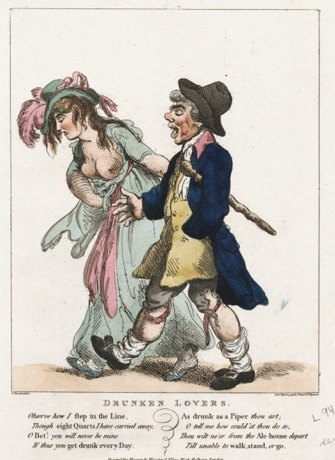 Drunken Lovers by Thomas Rowlandson