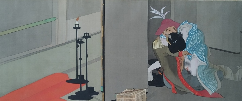 Dutchman with geisha shunga