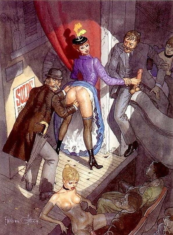 Erich von Gotha adult comic