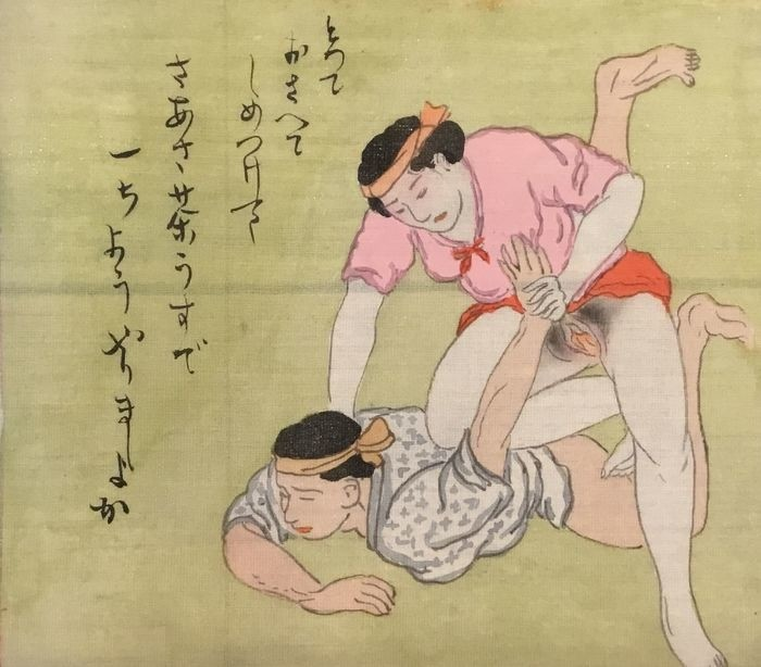 erotic print with fighting females