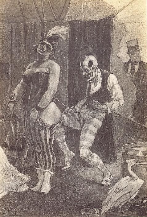 felicien rops horny clown