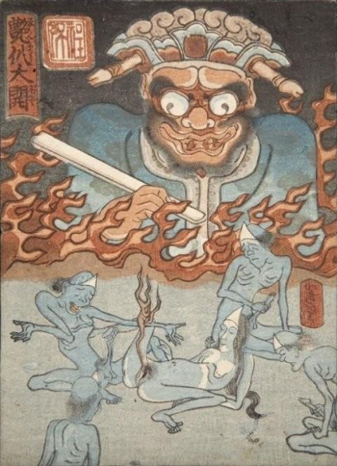 felicien rops pictures enmaro diabolo Kuniyoshi