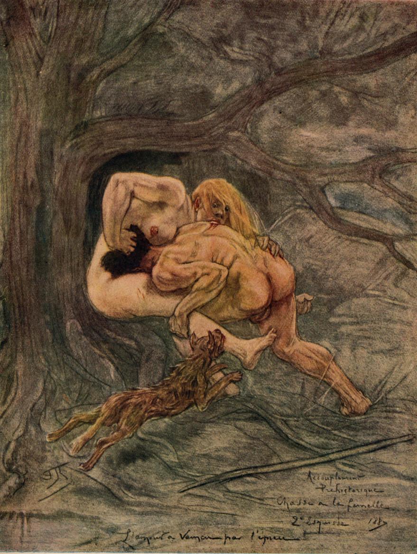 felicien rops pictures: prehistoric coupling