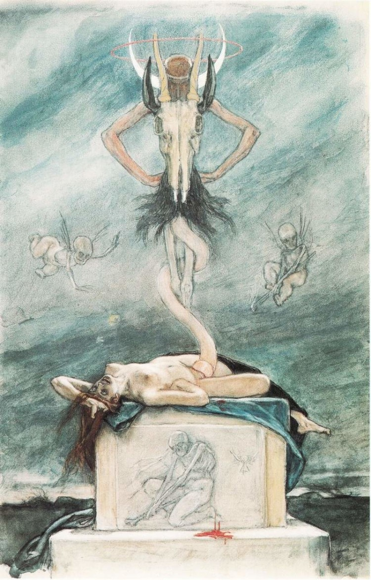 felicien rops pictures: the sacrifice