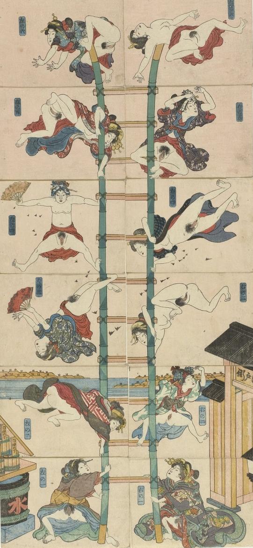 firemen shunga Kuniyoshi