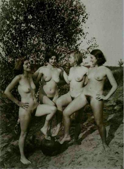 four female naturists