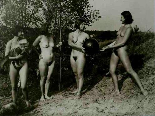 four female nudes photo
