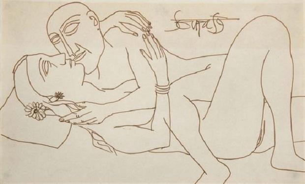 Francis Newton Souza erotic painting