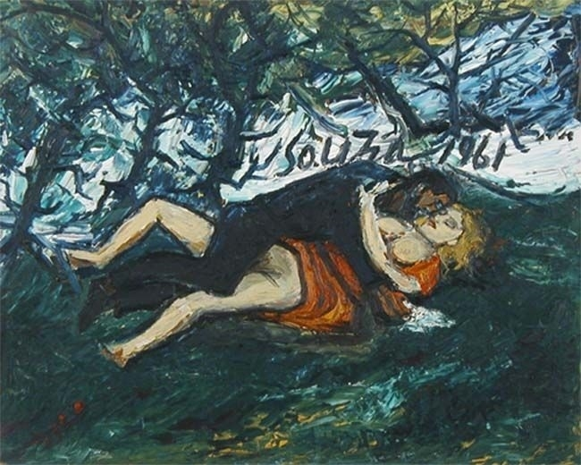 francis newton souza Lovers in the Park