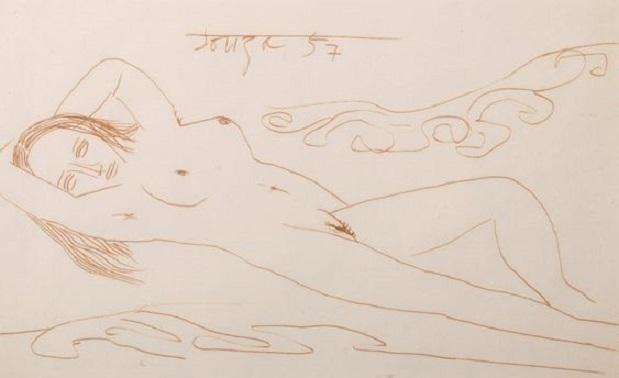 francis newton souza Lying nude