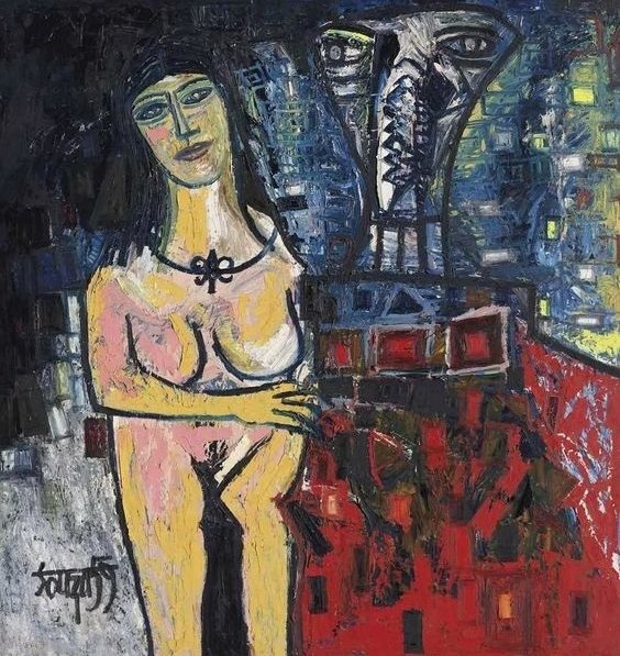 Francis Newton Souza Man and Woman art