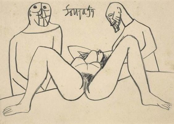 Francis Newton Souza nude female