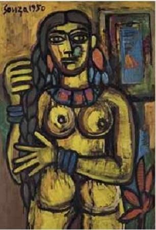 Francis Newton Souza Nude Woman