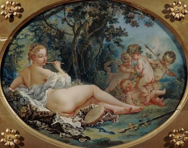 François Boucher: Bacchante Playing the Flute,