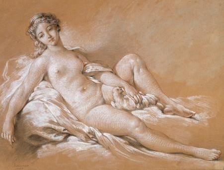 François Boucher's Venus with a Dove, sketch.