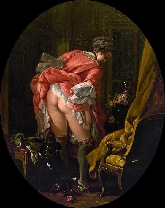 François Boucher: The Raised Skirt, 1742.
