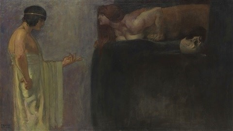 Franz von Stuck oedipus and phoenix
