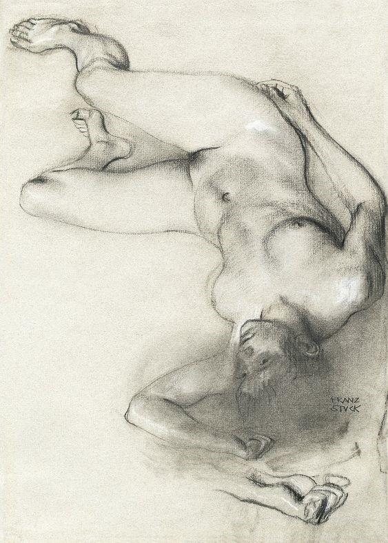 Franz von Stuck reclining nude