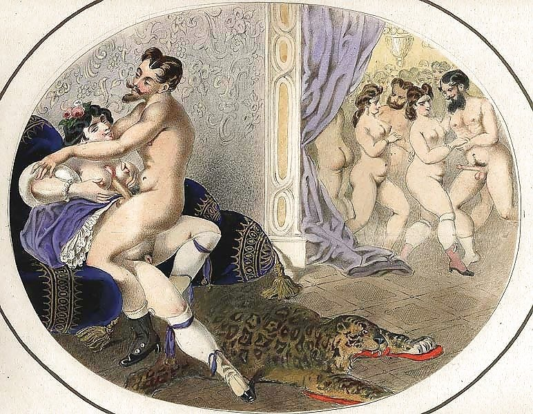 French erotic painting orgy