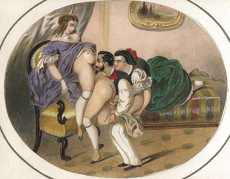 French erotic painting threesome