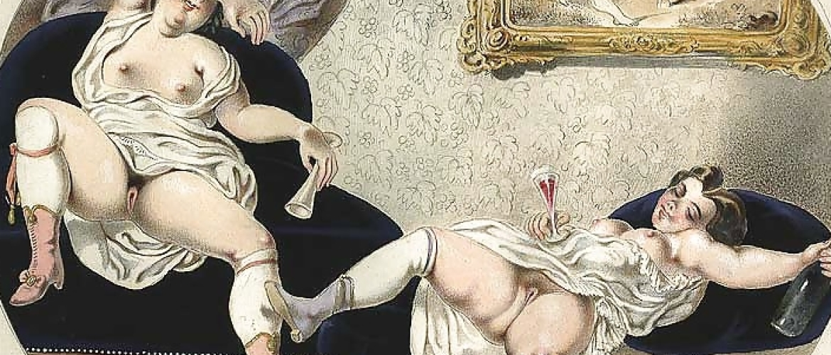 A Rare Set of 15 German Erotic Engravings From Around 1840