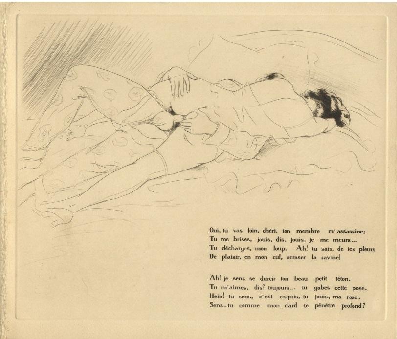 French illustrator Léon Courboulei erotic