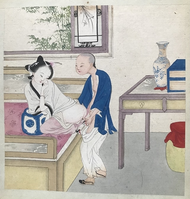 from the rear Chinese erotic painting