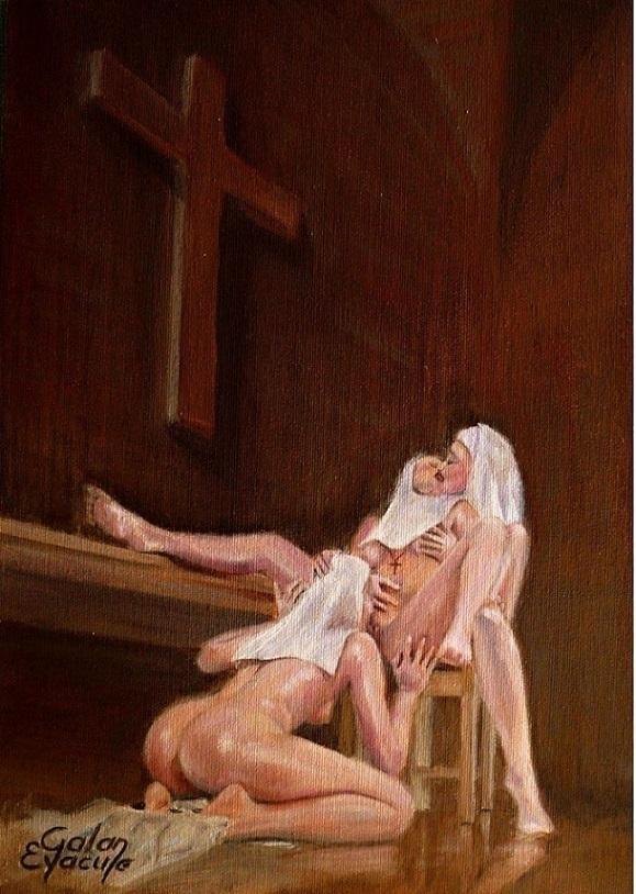 Galan Eyacule nuns
