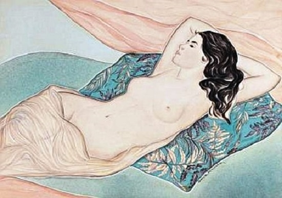 Genia Minache Reclining nude