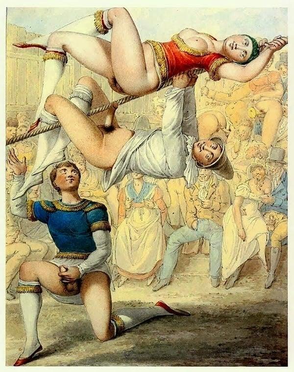 Georg Opiz, acrobatic performance