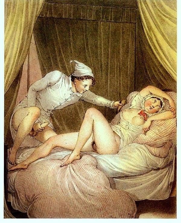 Georg Opiz aroused man and a sleeping woman