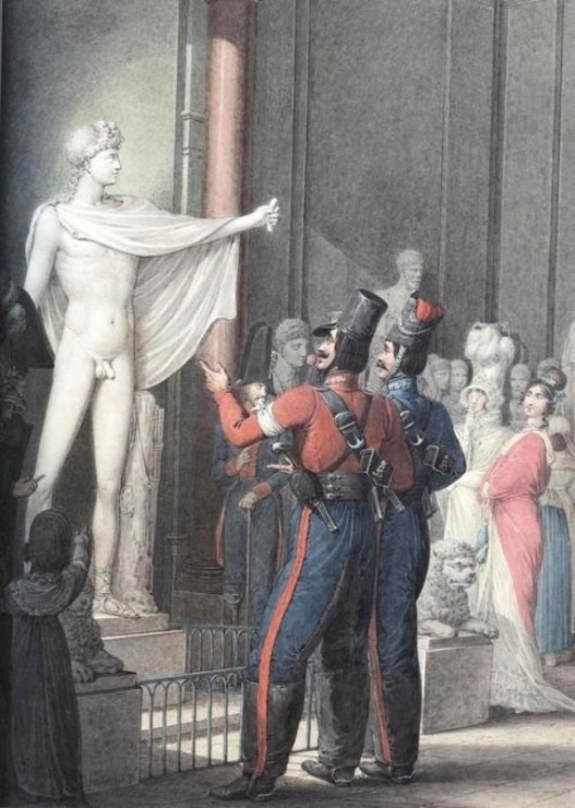 Georg Opiz, Cossacks visiting Louvre