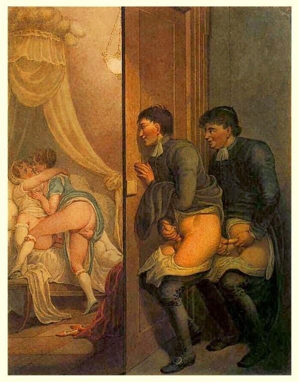 Georg Opiz male voyeurs watching lesbians