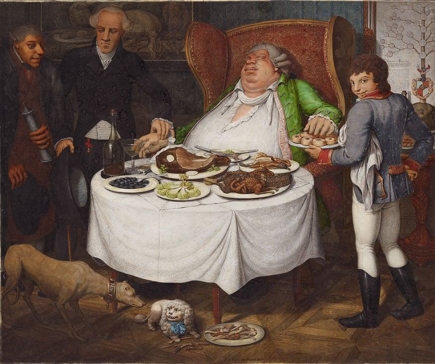 Georg Opiz, The Glutton art