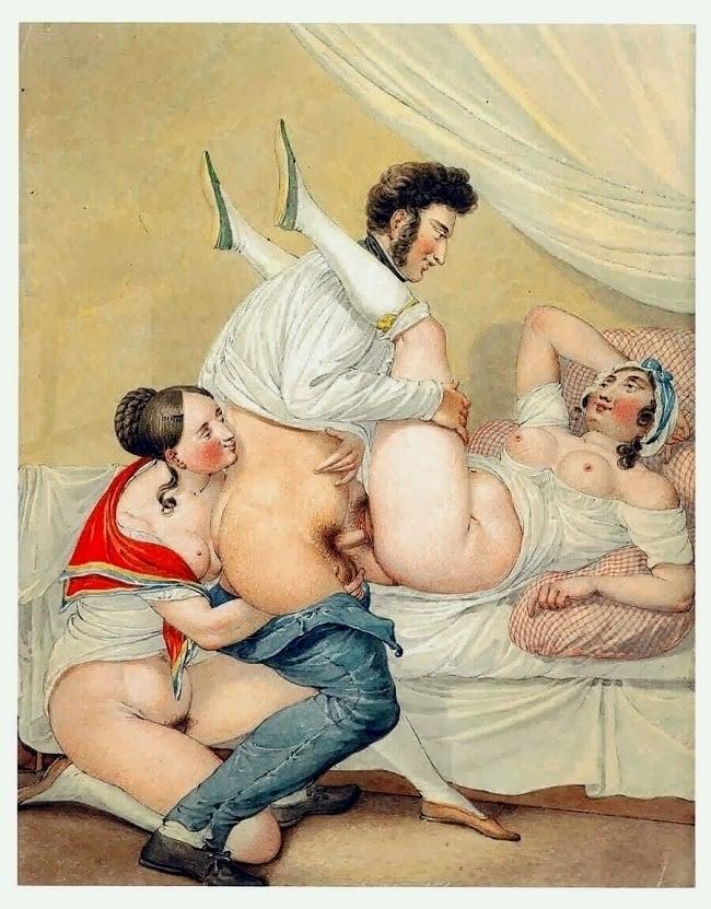Georg Opiz woman assists copulating couple