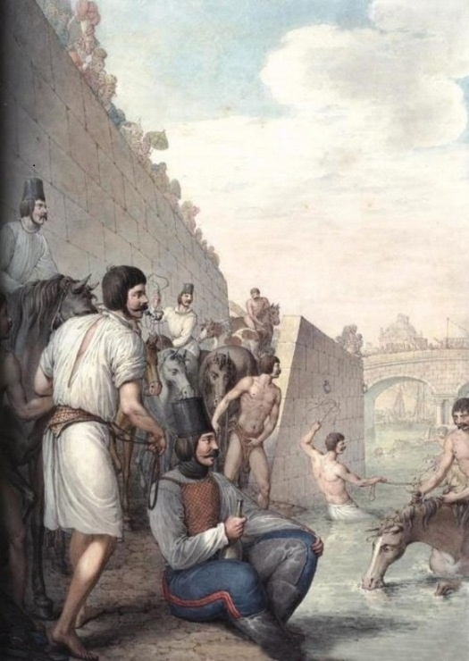 Georg Opiz,Cossacks bathing their horses