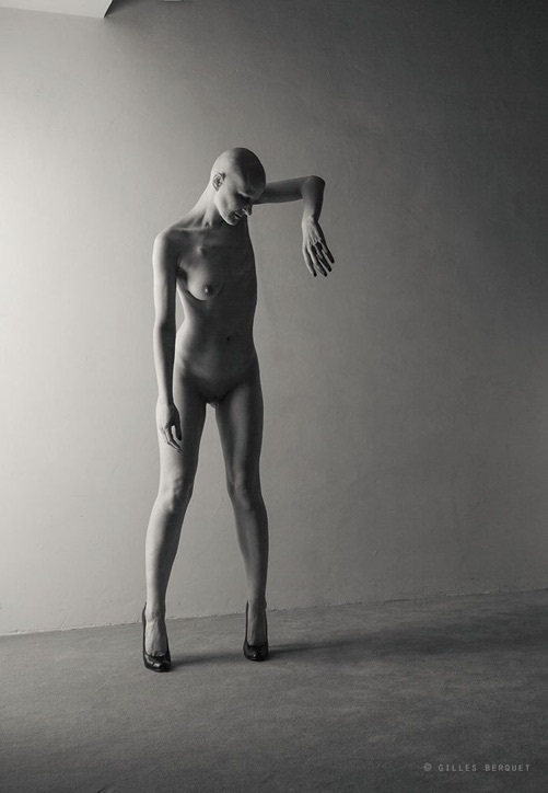 Gilles Berquet bald-headed nude female