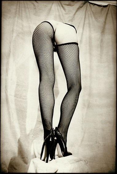 Gilles Berquet legs in fishnet