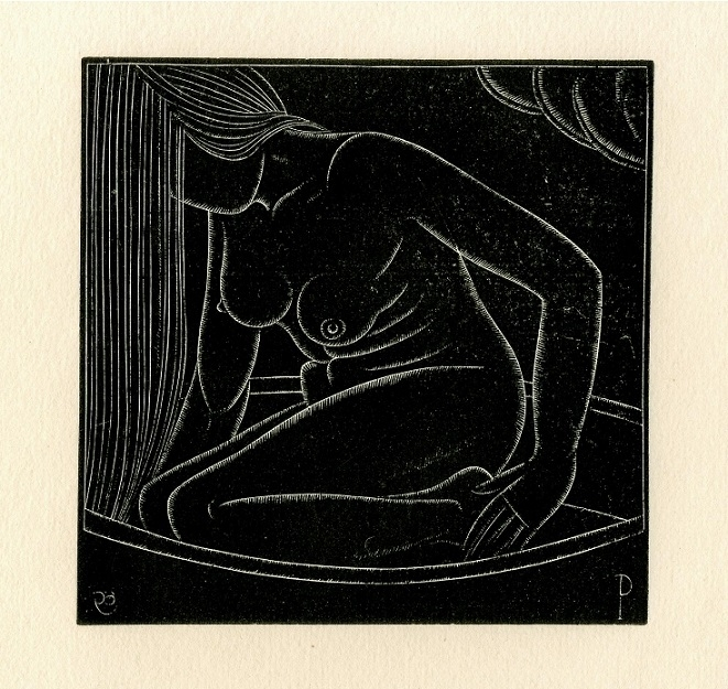 Girl In the Bath by Eric Gill