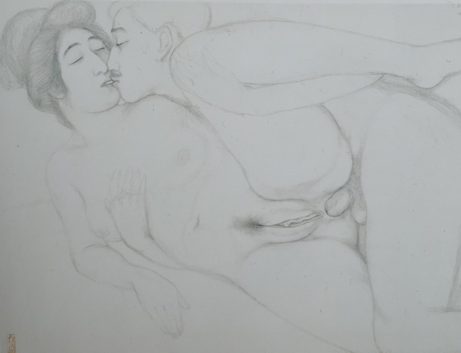 Goyō Hashiguchi erotic drawing
