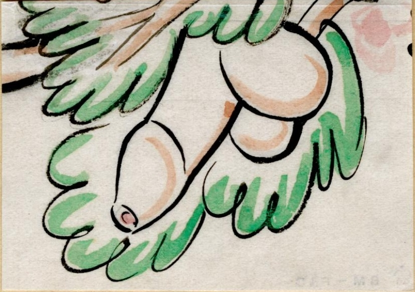 Growing phallus by Eric Gill