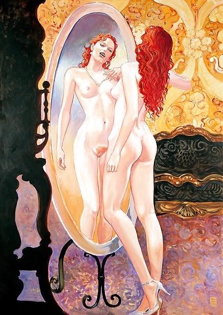 gustav klimt erotic posing nude