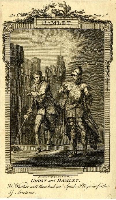 Hamlet,' print made after Mortimer's design