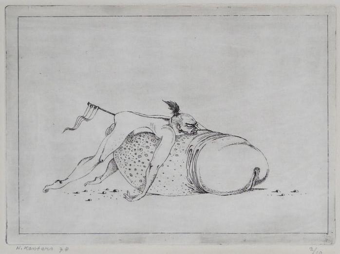 Hans Kanters: erotic etching