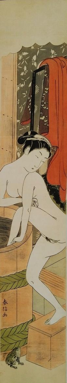 Harunobu bathing woman
