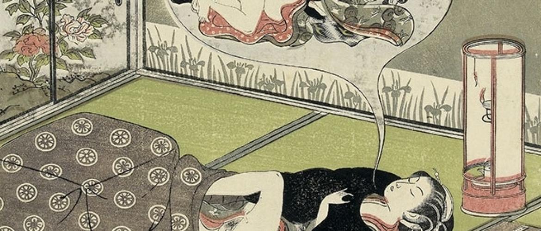 The Voluptuous Dream Scenes by Ukiyo-e Masters Harunobu & Koryusai