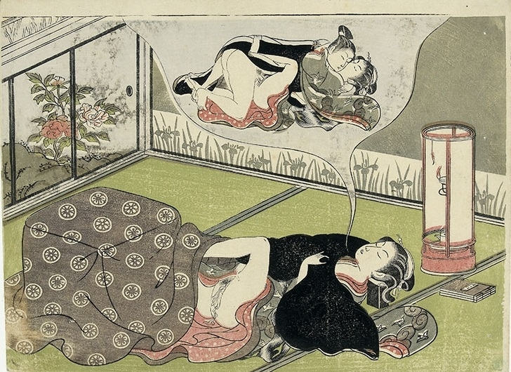 Harunobu dreaming woman