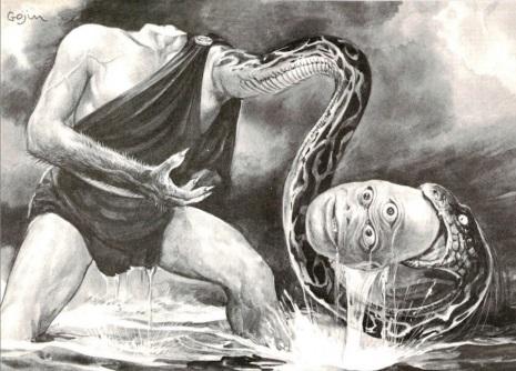 Hayashi Gekko snake headed man